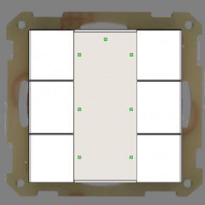 MDT RF-TA55A6.01 KNX RF Funk Taster 6-fach Plus; mit Aktor, Reinweiß glänzend, Status und Orientierungs LED