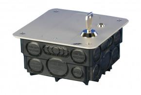 GePro-MAT/SS-B-HW MAT-Nebenstelle mit Schlüsselschalter, Aluminium eloxiert, Ausführung Hohlwand