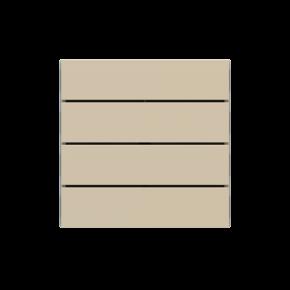 "EKINEX EK-TRO-FBL Tasten für 4fach Tasterelektronik, FF-Serie, 4 Stück, FENIX NTM®, Farbe ""beige luxor"""