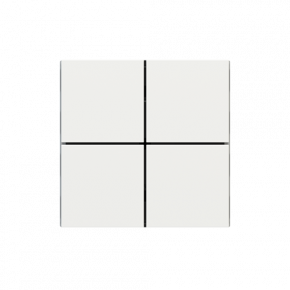 "EKINEX EK-TQQ-FBM Tasten für 4fach Tasterelektronik, FF-Serie, 4 Stück, FENIX NTM®, Farbe ""malè white"""