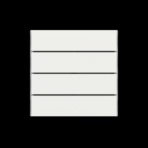 "EKINEX EK-TRO-FBM Tasten für 4fach Tasterelektronik, FF-Serie, 4 Stück, FENIX NTM®, Farbe ""malè white"""