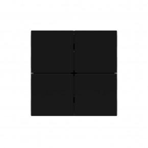 "EKINEX EK-TQQ-GAE_YYY Taste, UV-bedruckt, für 4fach Tasterelektronik, FF-Serie, 1 Stück, Kunststoff, Farbe ""intense black"""
