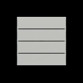 "EKINEX EK-TRO-GAG Tasten für 4fach Tasterelektronik, FF-Serie, 4 Stück, rechteckig, horizontal, Kunststoff, Farbe ""silver"""