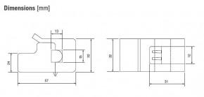 EKINEX EK-TA-30A Stromwandler für EK-CF2-TP KNX UP-Strommessschnittstelle für 1-phasige oder 3-phasige Stromkreise