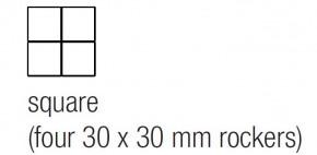 "EKINEX EK-T4Q-FBL Tasten für Tasterelektronik, Serie-71, FENIX NTM®, 4 Stück, quadratisch, 30x30mm, Farbe ""beige luxor"""