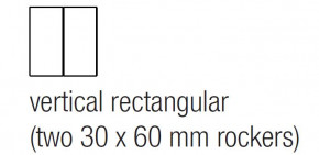 "EKINEX EK-T2R-GBS Tasten für Tasterelektronik, Serie-71, 2 Stück, Aluminium, vertikal rechteckig, 30x60mm, Farbe ""titanium"""