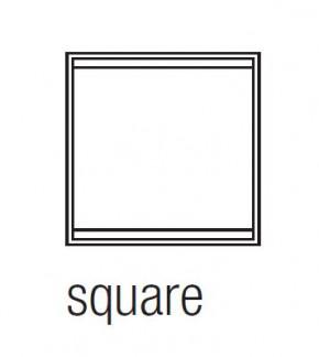 """EKINEX EK-FLQ-GAA """"Flank"""" Rahmen für Produkte aus der Serie-FF und Serie-71, Plastik, 1 Stück, quadratisch, Farbe """"ice white"""""""