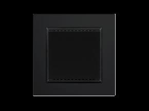 Elsner 70636 KNX T-UP gl CH, Tiefschwarz RAL 9005, Objektsensor, Innenraum-Temperatursensor, Swiss-Edition
