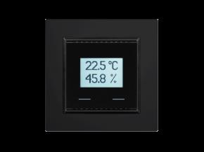 Elsner 70638 KNX TH-UP Touch CH, Tiefschwarz RAL 9005, KNX-Temperatur-/Feuchtesensor mit Touch-Tasten, Swiss-Edition