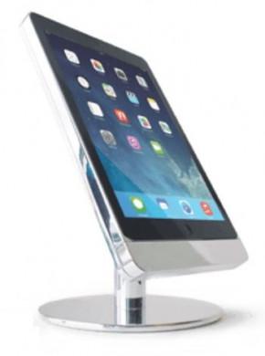 Basalte Eve table base for iPad mini 4 - portrait - satinised aluminium