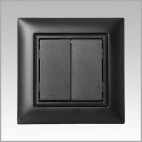 FLEXTRON Kunststoffset für ZF KNX RF Tastermodul 1-/2-fach EDIZIO Due Farbe 60 Schwarz