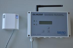 TELMA GLW200/GSM Wassermeldezentrale für Funk- und kabelgebundene Sensoren