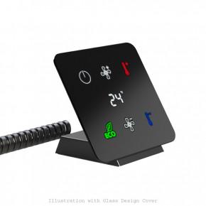 Controltronic GT.16.15.20 KNX Glas Touch Sensor Konsole 6‐fach mit Display schwarz glänzend