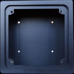GePro-MAT/SS-sw-APAL MAT-Nebenstelle mit Schlüsselschalter inkl. Lasergravur, schwarz eloxiert, Ausführung Aufputz