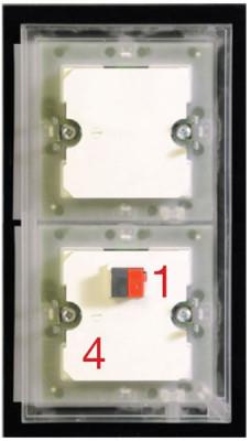 MDT BE-GT08S.01 Glastaster 8-fach Plus, Schwarz
