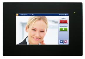 IDDERO TONE7-B TouchOne 7 Zoll Touchpanel für SIP Video Türkommunikation, Frontrahmen schwarz