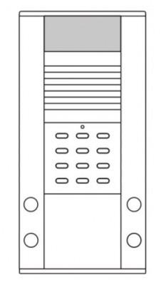 IDDERO MIP-TK4C - MURA IP Türstation, 4 Tasten, Codetastatur, Farbkamera, weisse Beleuchtung