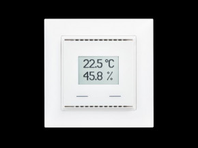 Elsner KNX AQS/TH-UP Touch CH, Reinweiß RAL 9010, KNX-Sensor CO2, Temp., Feuchte; mit Touch-Tasten