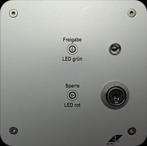 GePro-MAT/SS-HW MAT-Nebenstelle mit Schlüsselschalter inkl. Lasergravur, Aluminium eloxiert, Ausführung Hohlwand
