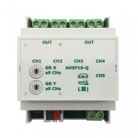 Lingg&Janke Q79237 KNX quick Schaltaktor 5-fach, AH5F16-Q, 16A, 4TE