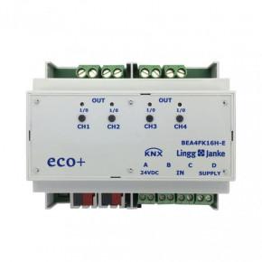 Lingg&Janke 79243 KNX eco+ Binär Ein- / Ausgang 4-fach, Kontaktabfrage, Handbedienung