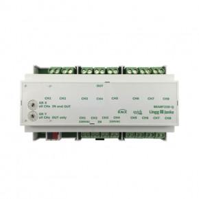 Lingg&Janke Q79242 KNX quick Binär-Ein/-Ausgang 8-fach, BEA8F230-Q, Signaleingang 230V AC/DC, 16A C-Last, 9TE