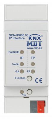 MDT SCN-IP000.03 IP Interface, 2TE, REG, mit Email und Zeitserverfunktion und KNX IP Secure und Data Secure