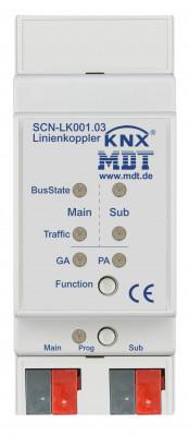 MDT SCN-LK001.03 Bereichs-/ Linienkoppler, 2TE, REG, unterstützt erw. Gruppenadressen und KNX Data Secure