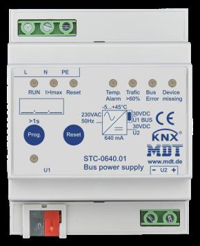 MDT STC-0640.01 Busspannungsversorgung mit Diagnosefunktion, 4TE REG, 640mA