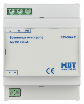 MDT STV-0024.01 Spannungsversorgung, 4TE, REG, 750mA, 24VDC
