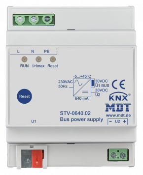 MDT STV-0640.02 Busspannungsversorgung, 4TE, REG, 640/1200mA