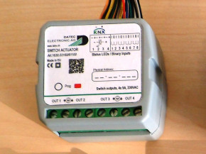 Datec KNX Schalt- Jalousieaktor Unterputz, 4x 230V/10A, 8x potfreie Eingänge