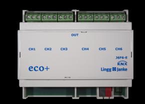 Lingg&Janke eco+ Jalousie- /Rollladenaktor, 6 unabhängige Antriebe J6F6-E
