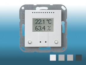 Elsner KNX TH-B-UP Temperatur/Feuchte weiss